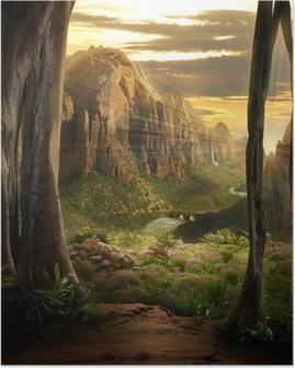 Phantasy Landscape Poster
