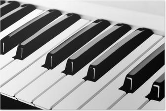 piano keyboard Poster