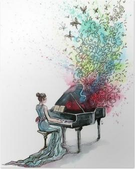 Poster Piano musique (série C)
