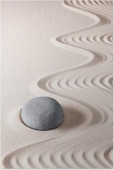 Póster Piedra de la meditación zen