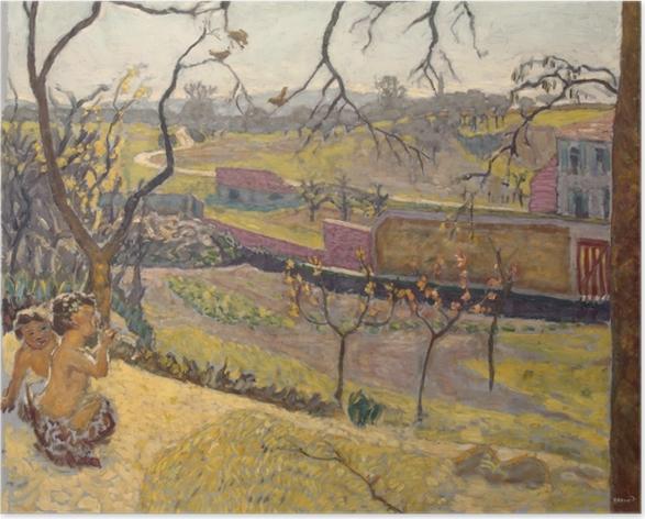 Póster Pierre Bonnard - Comienzo de la primavera. Pequeños faunos - Reproductions