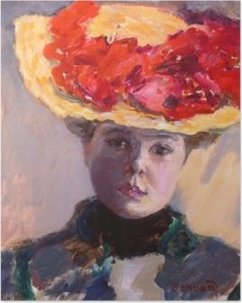 Poster Pierre Bonnard - Dívka v slaměném klobouku