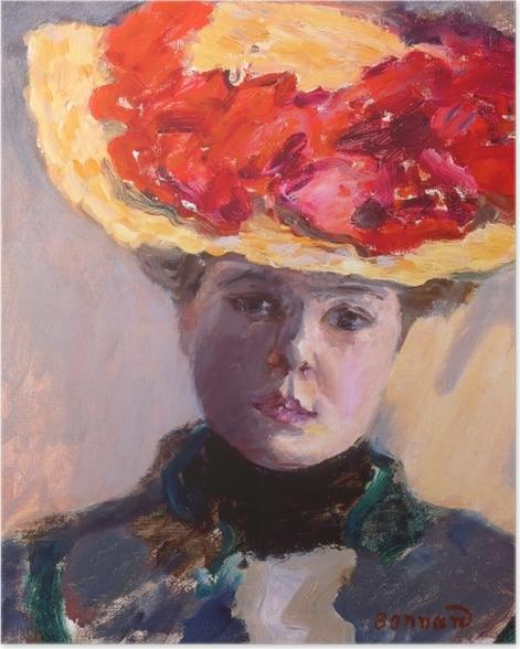 Poster Pierre Bonnard - Fille au chapeau de paille - Reproductions