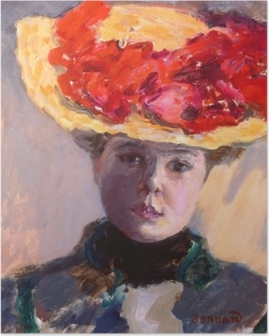 Pierre Bonnard - Girl in Straw Hat Poster