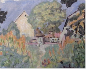 Pierre Bonnard - My House in Vernon - the Garden Poster