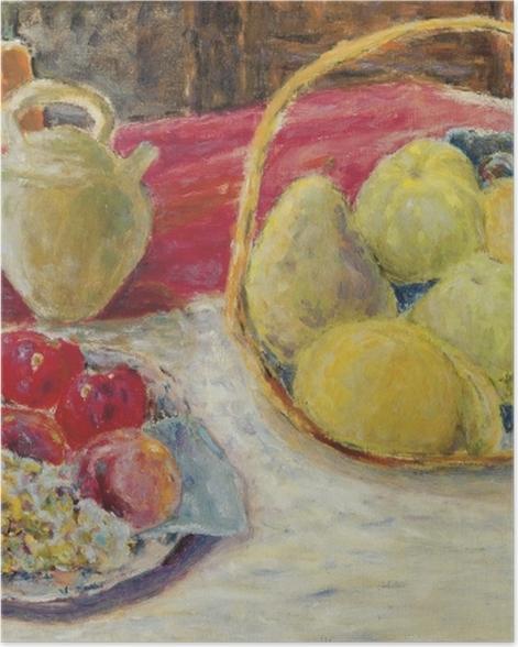 Poster Pierre Bonnard - Nature morte de fruits dans le soleil - Reproductions