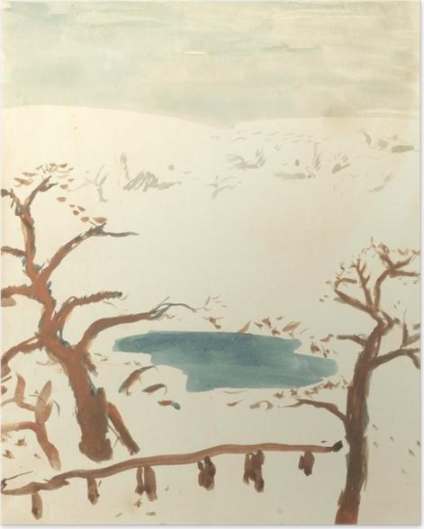 Poster Pierre Bonnard - Paysage d'hiver - Reproductions