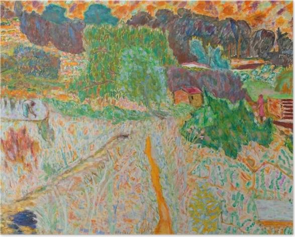 Póster Pierre Bonnard - Vista desde el estudio del artista - Reproductions