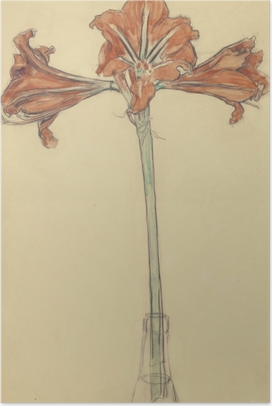 Poster Piet Mondrian - Amaryllis - Reproductions