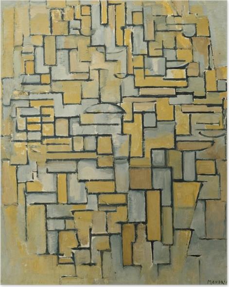 Poster Piet Mondrian - Composition - Reproductions