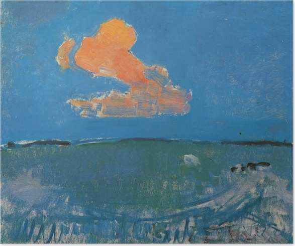 Poster Piet Mondrian - Le nuage rouge - Reproductions