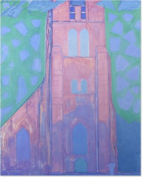 Poster Piet Mondrian - Tour de l'Église de Domburg - Reproductions
