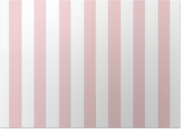 Pink And White Stripe Wallpaper Backdrop Poster