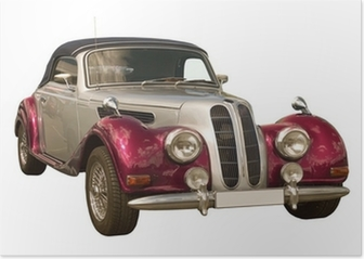 pink Oldtimer, Classic Car, Cabriolet Poster