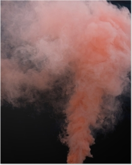Pink Peach Smoke Bomb Overlays Poster