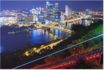 Poster Pittsburgh Cityscape