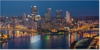 Poster Pittsburgh skyline panorama.