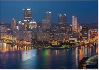 Pittsburgh skyline panorama. Poster