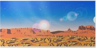 Poster Planet landskap