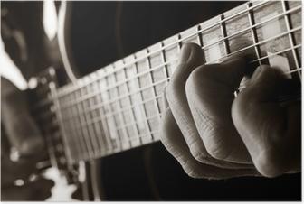 playing jazz guitar Poster