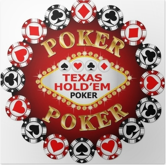 Póster Poker chips