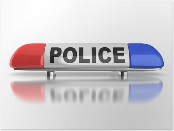 Police Car Emergency Lights Poster Pixers We Live To Change