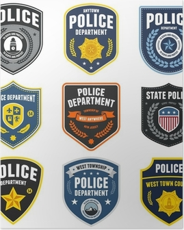 Police patches Poster