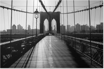 Poster Pont de Brooklyn, Manhattan, New York City, USA