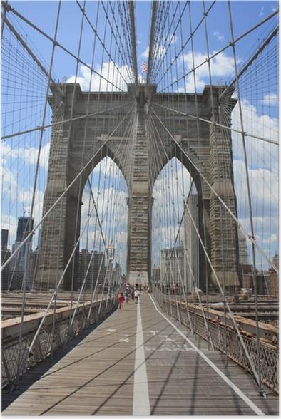 poster pont de brooklyn pixers nous vivons pour changer. Black Bedroom Furniture Sets. Home Design Ideas