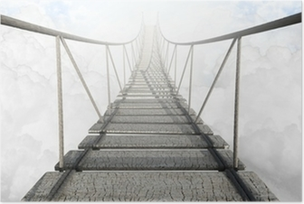 Poster Pont de corde Above The Clouds