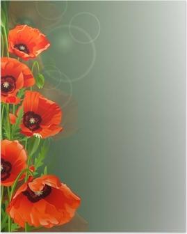 Poppy background Poster