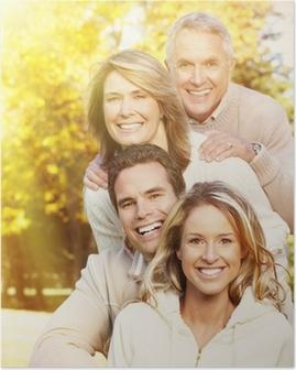 Poster Portrait de famille heureuse