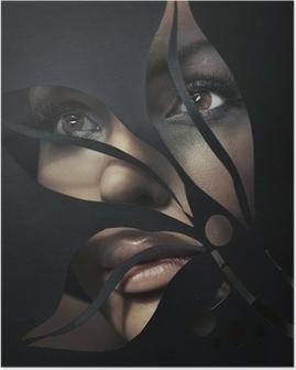 Poster Portrait en forme d'une belle femme