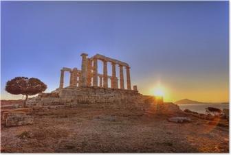 Poseidon Temple ,Cape Sounion, Greece Poster