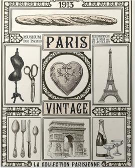 Poster Paris Vintage Poster