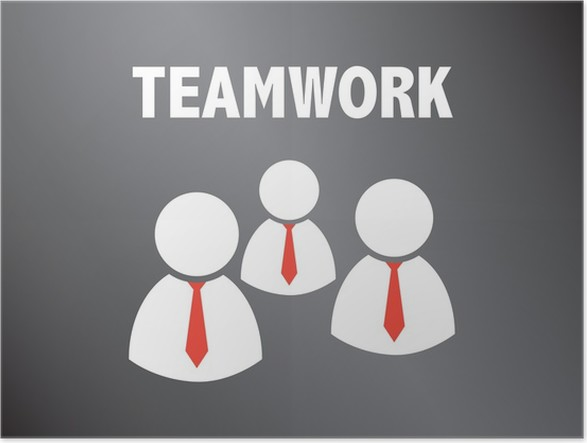 Powerpoint Vorlage - Teamwork - Business Men Poster • Pixers® • We ...