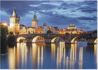 Prague - Charles bridge, Czech Republic Poster