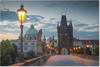 Poster Prague charles bridge