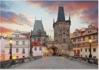 Prague View from Charles Bridge Poster