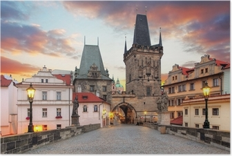 Poster Prague, vue depuis le pont Charles