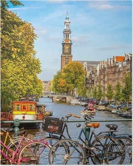 Prinsengracht canal in Amsterdam Poster