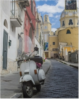 procida island view of an alley Poster