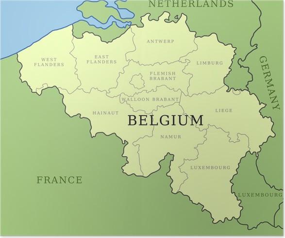 pster provincias de blgica mapa