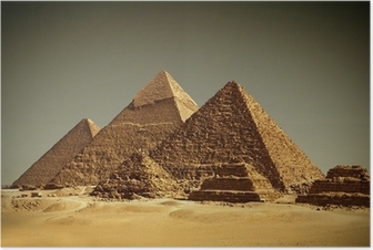 Poster Pyramides - Gizeh / Egypten