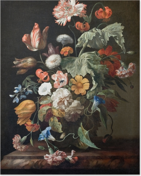 Poster Rachel Ruysch - Still-Life with Flowers - Reproductions