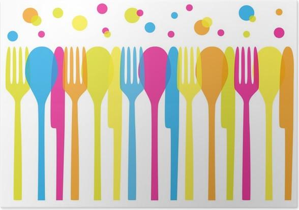 Rainbow cutlery Poster • Pixers® • We live to change