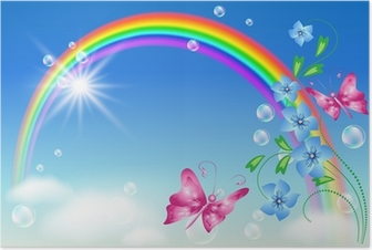 Rainbow in the sky Poster