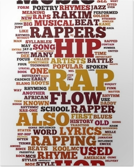 Poster Rap en Hip Hop Music
