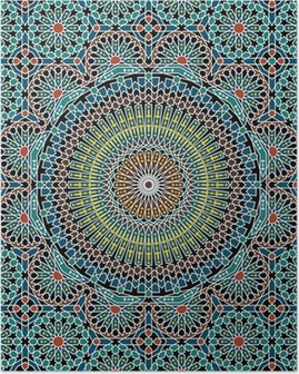 Razil Moorish Seamless Pattern Poster