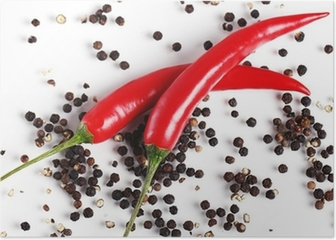 Red chilli pepper Poster